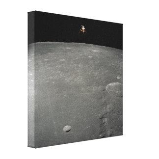 Intrepid Landing on Moon Canvas Prints