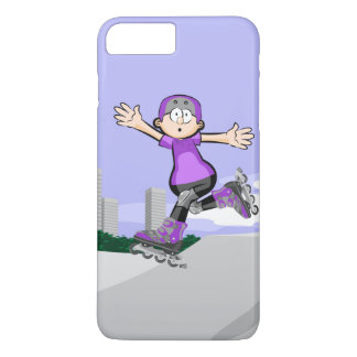 Intrepid skate on wheels young jumping iPhone 8 plus/7 plus case