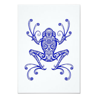 Intricate Blue Tree Frog on White Custom Announcement