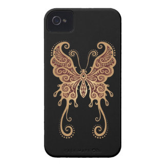 Intricate Brown and Black Butterfly iPhone 4 Case-Mate Cases