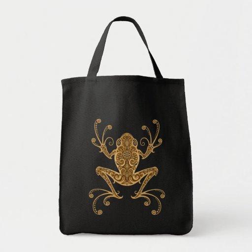 Intricate Brown Tree Frog Bags