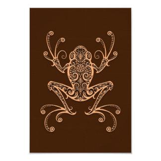 Intricate Brown Tree Frog Custom Invitations