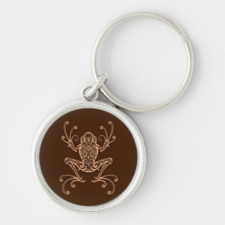 Intricate Brown Tree Frog Key Chains