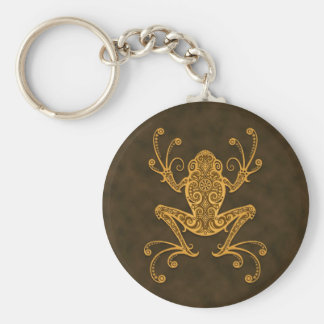 Intricate Brown Tree Frog Keychains