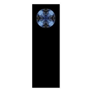 Intricate Decorative design. Black & Blue. Business Card