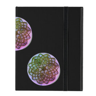 Intricate filigree patterned coloured metalwork iPad case