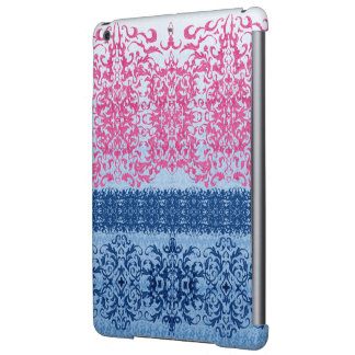 Intricate Fleur De Lis in Pink and Blue Case For iPad Air