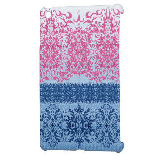 Intricate Fleur De Lis in Pink and Blue Case For The iPad Mini