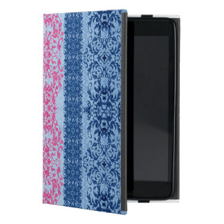 Intricate Fleur De Lis in Pink and Blue Cover For iPad Mini