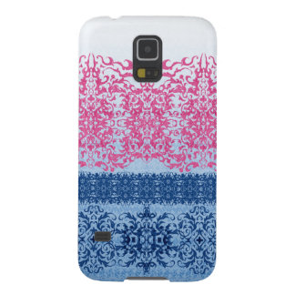 Intricate Fleur De Lis in Pink and Blue Galaxy S5 Covers