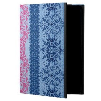 Intricate Fleur De Lis in Pink and Blue iPad Air Case