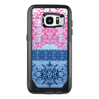Intricate Fleur De Lis in Pink and Blue OtterBox Samsung Galaxy S7 Edge Case
