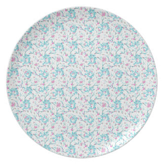 Intricate Floral Collage Plate