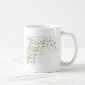 Intricate gold design coffee mug