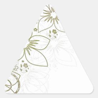 Intricate gold design triangle sticker