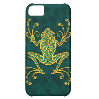 Intricate Golden Blue Tree Frog iPhone 5C Cover