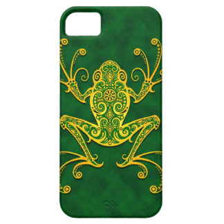 Intricate Golden Green Tree Frog iPhone 5 Cases