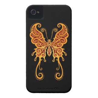 Intricate Golden Red and Black Butterfly iPhone 4 Case-Mate Case