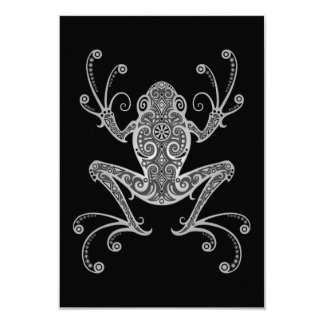 Intricate Gray Tree Frog Personalized Invitation