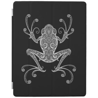 Intricate Gray Tree Frog iPad Cover