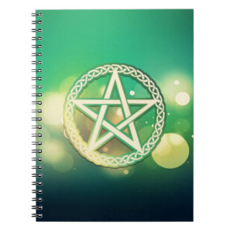 Intricate green pentacle notebooks