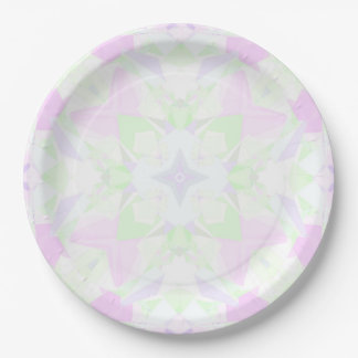 Intricate Kaleidoscope Paper Plate