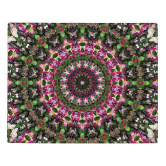 Intricate Magenta and Green Floral Mandala Acrylic Jigsaw Puzzle