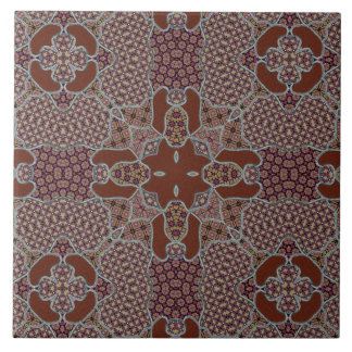 Intricate Patchwork Motif Tile