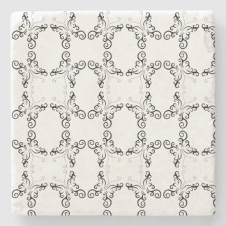 INTRICATE PATTERN TATTOO BUTTERFLY MARBLE COASTER
