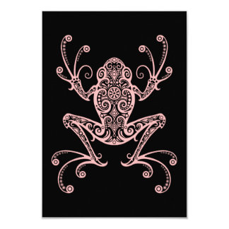 Intricate Pink Tree Frog Personalized Invite