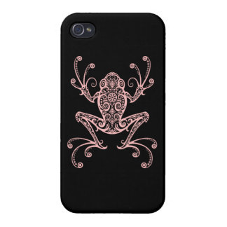 Intricate Pink Tree Frog iPhone 4/4S Case