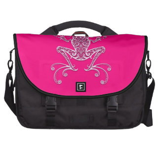 Intricate Pink Tree Frog Computer Bag