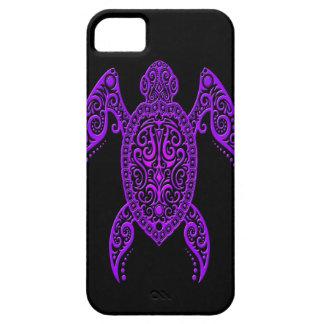 Intricate Purple and Black Sea Turtle iPhone 5 Case