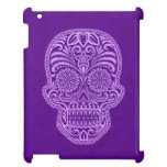 Intricate Purple Sugar Skull iPad Cover