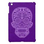 Intricate Purple Sugar Skull Cover For The iPad Mini