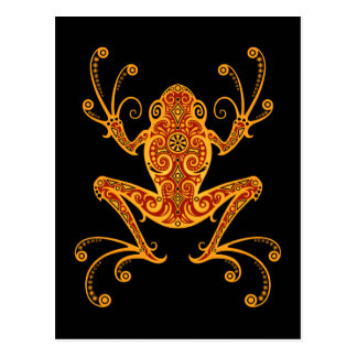 Intricate Red and Yellow Tree Frog Postcard