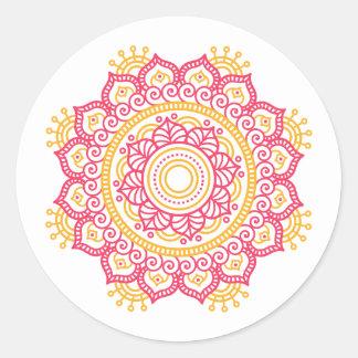 Intricate Setting Round Sticker