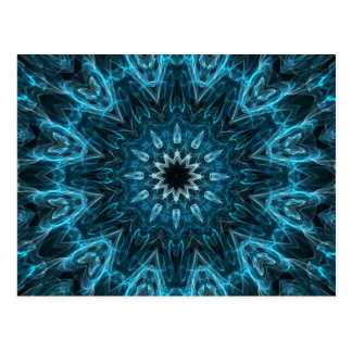 intricate snowflake postcard