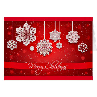 Intricate Snowflakes Christmas Card