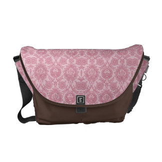 Intricate Vintage Floral - In Pink Courier Bag