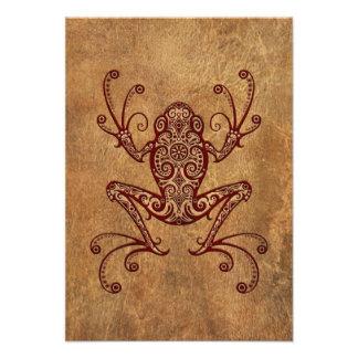 Intricate Vintage Tree Frog Custom Invitation