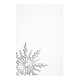 Intricate Winter Snowflake Customized Stationery
