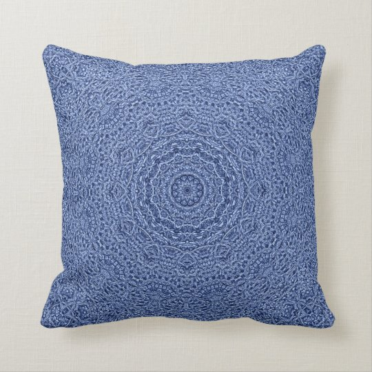 Intrix Klok BluLavender Mandala Pillow