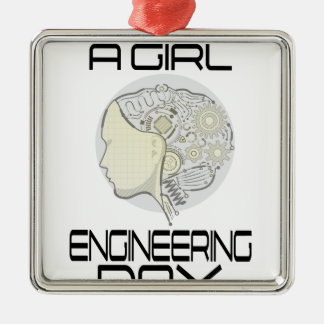 Introduce A Girl To Engineering Day 16th February Metal Ornament
