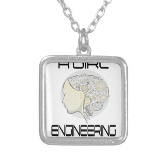 Introduce A Girl To Engineering Day 16th February Silver Plated Necklace