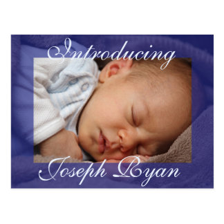 Introducing New Baby  Announcement Postcard