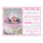 Introducing New Baby Girl Announcement Postcard