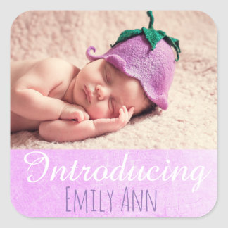 Introducing, Personalized New Baby Photo Stickers
