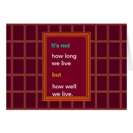 Introspection Wisdom : How well we lived ?? Cards
