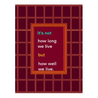 Introspection Wisdom : How well we lived ?? Postcard
